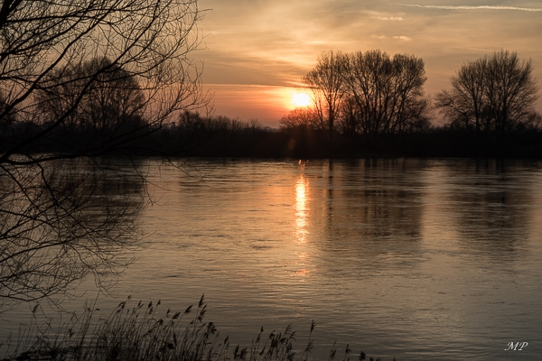 Lever de soleil sur la Loire