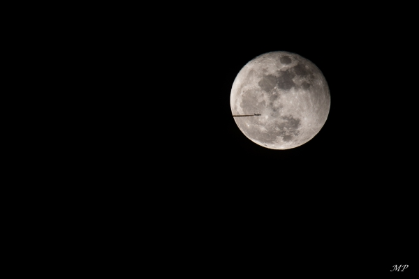 La lune hier soir