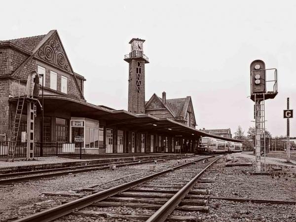 La gare de Dinan côté voies