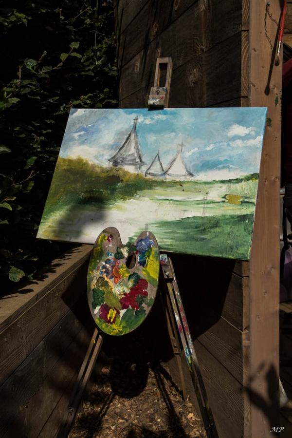 Dans l'atelier du peintre