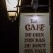 Enseigne d'un café typique à St Mâlo