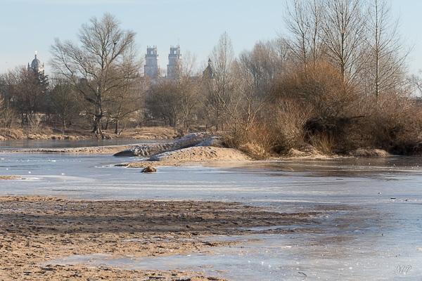 La Loire gelée à Orléans